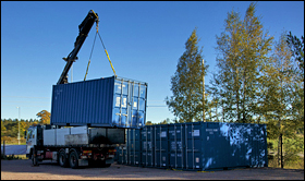 utkörning container